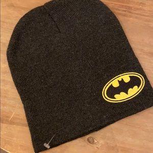 Mens Batman Knitted Bobble Hat Kids DC Super Hero Winter Warm Wool Cap Gift Size